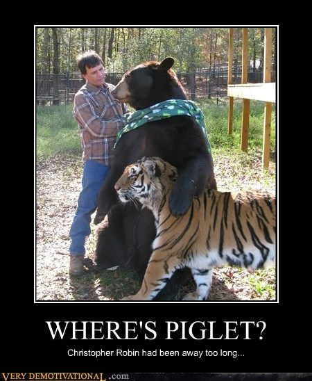 bear,hilarious,piglet,tiger,winnie the pooh