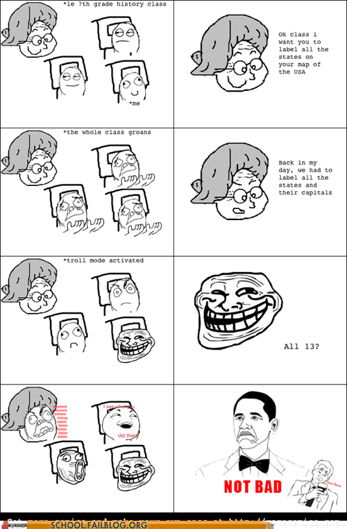 old teacher,Rage Comics,state capitols,teachers