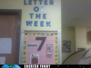 7,letter 7,letter of the week