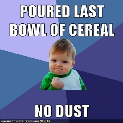 breakfast,fairy powder activate,success kid,dust,cereal
