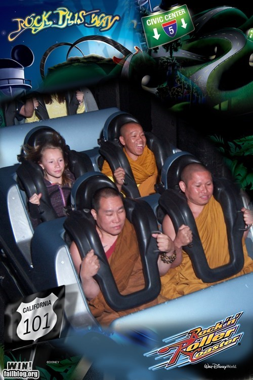 calm Candid Camera monk roller coaster whee - 6192707840
