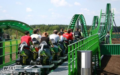 amusement park motorcycle roller coaster whee - 6192822528