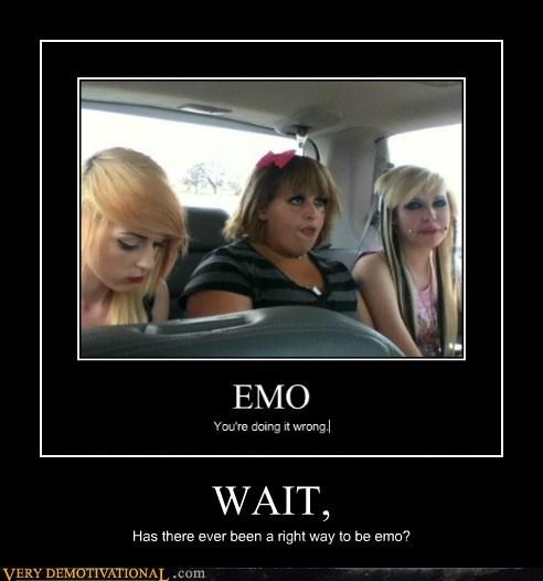 emo hair idiots wait - 6192926208