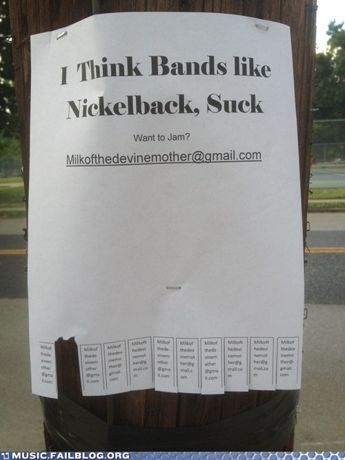 flyer jam nickelback sucks - 6193027840
