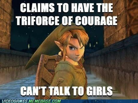 courage girls link meme triforce zelda - 6195858432