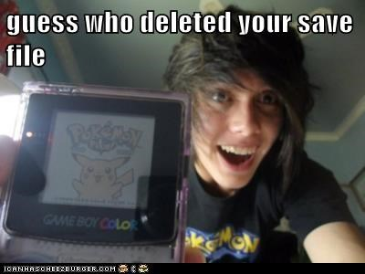 deleted,Pokémon,save file,weird kid