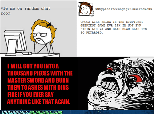 geeky legend of zelda rage comic wtf - 6195967232