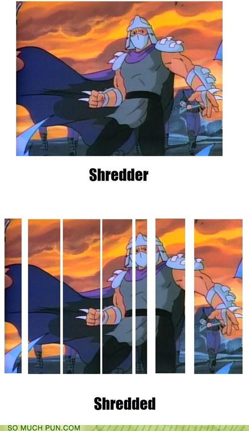 literalism name shredded shredder teenage mutant ninja turtles TMNT - 6196308224