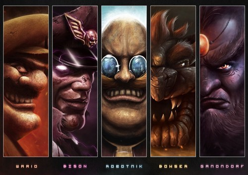bison,bowser,Fan Art,Ganondorf,robotnik,video games,wario