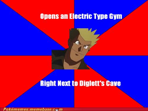 diglett cave electric gym gym trainer lt-surge meme Memes - 6196902912