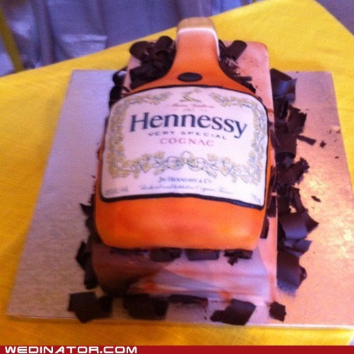 alcohol funny wedding photos grooms-cake hennessy - 6197000960