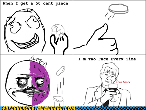 fantasy,rage comic,Super-Lols,two face