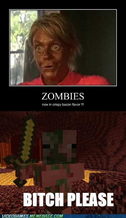 bacon minecraft tanning lady the internets zombie - 6197288960