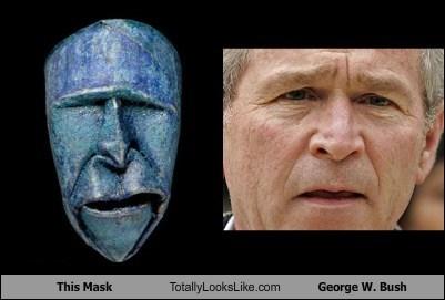 mask TLL george w bush president funny - 6197745408