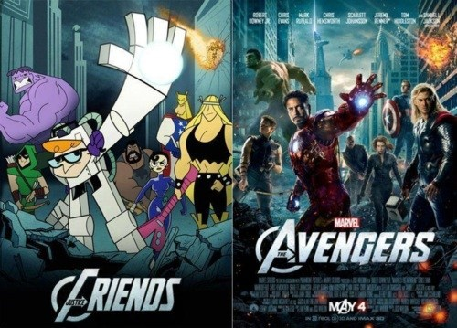 avengers,cartoon network,dexters-laboratory,Fan Art,mashup