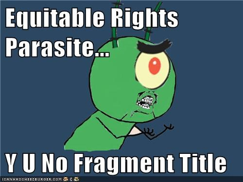 equitable rights