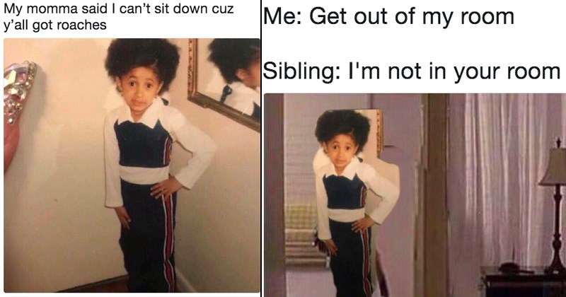 funny cardi b baby pic