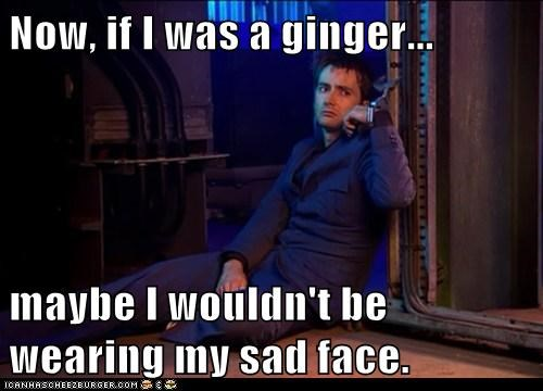 David Tennant doctor who ginger handcuffs maybe sad face the doctor - 6198604800