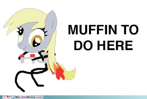 crossover,derpy hooves,jetpack,muffin,nothing to do here