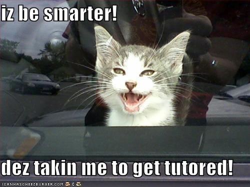 iz be smarter!  dez takin me to get tutored!