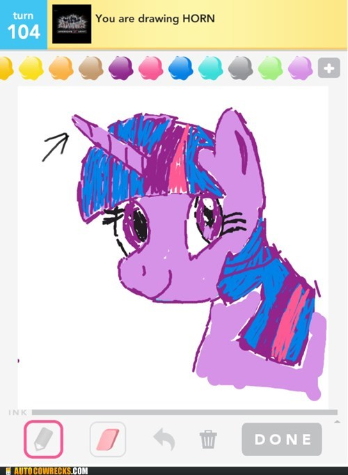 Bronies,drawing is magic,horn