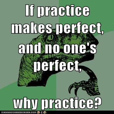 Memes perfection philosoraptor practice practice makes perfect why