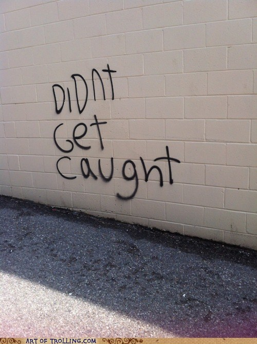 caught graffiti IRL wall - 6199903744