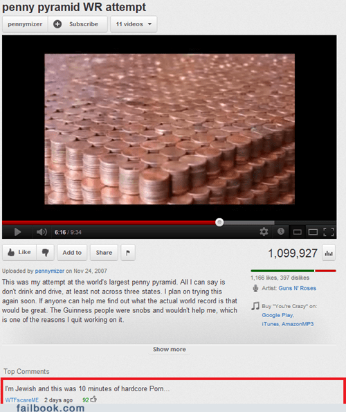 coins,comment,jew,jewish,money,pennies,pr0n,youtube,youtube comments