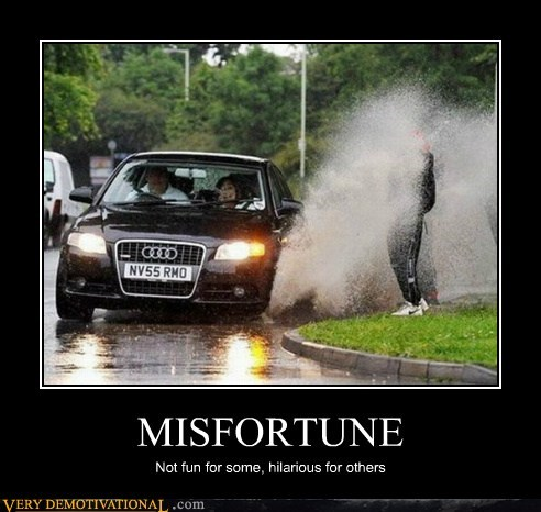 car,hilarious,misfortune,spray