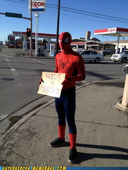 homeless,mary jane,Spider-Man,Superhero IRL
