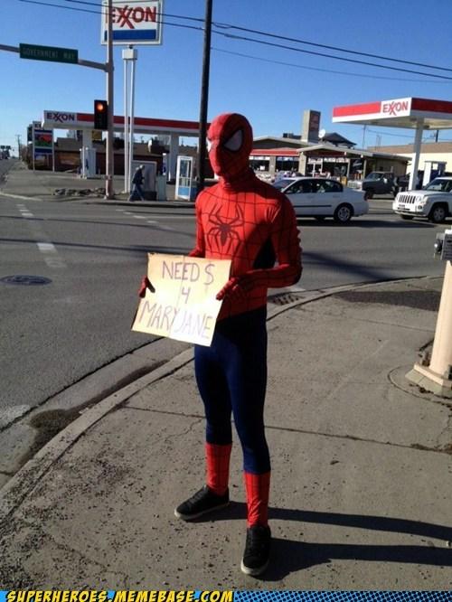 homeless mary jane Spider-Man Superhero IRL - 6201290240