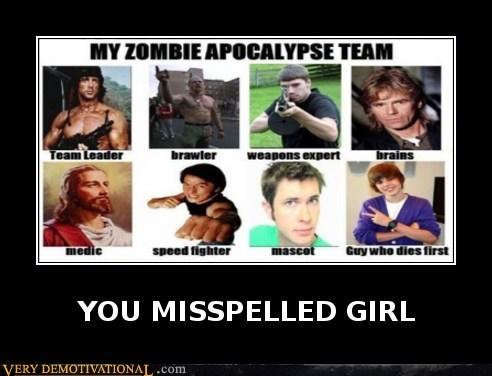 hilarious,justin bieber,rambo,zombie
