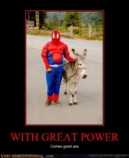 costume,donkey,hilarious,Spider-Man,wtf