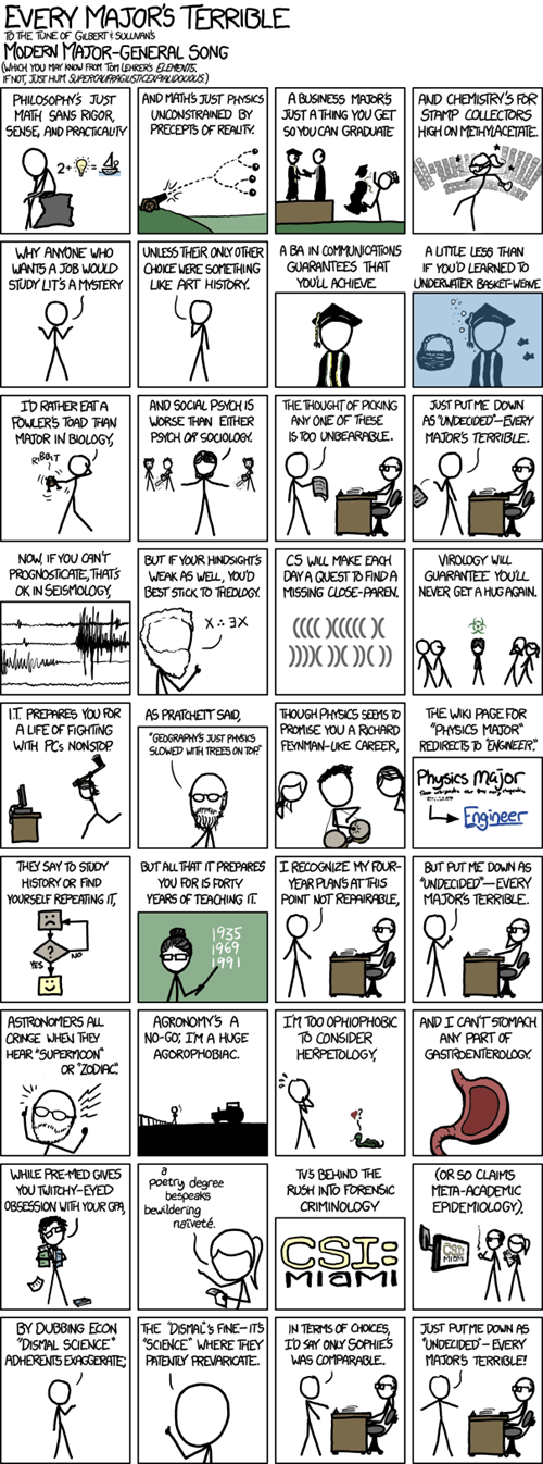 comics,every major,terrible,xkcd
