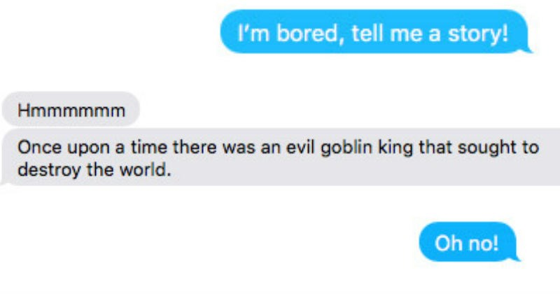 fantasy text otters goblin king boredom story funny - 6201861