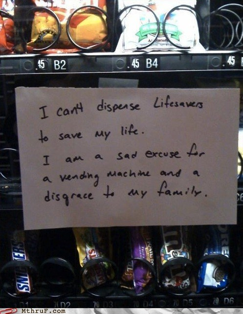 lifesavers vending machine