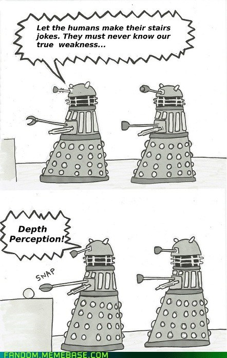 dalek depth perception doctor who Fan Art - 6201981440