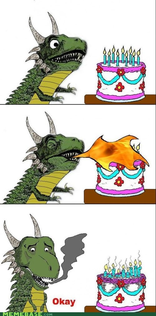 cake candles dragon fire First World Problems