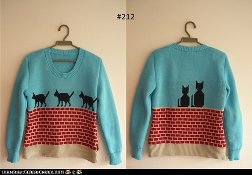 adorable cat fashion hipster style sweater - 6202260992