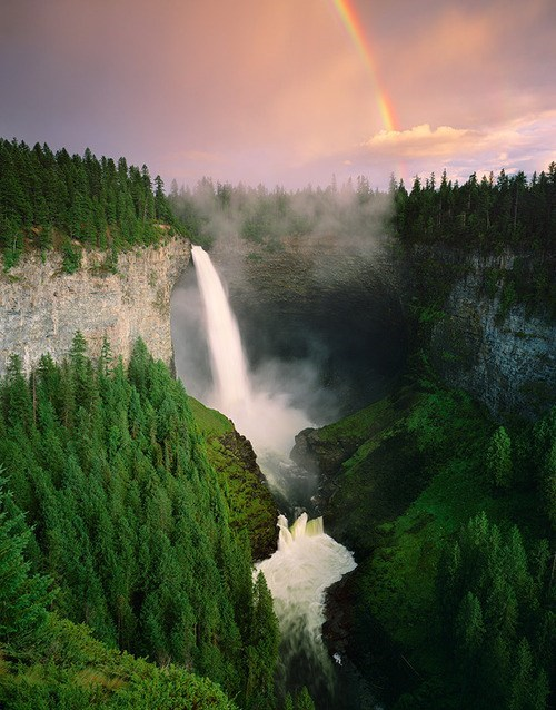 Canada Forest rainbow waterfall - 6202360064