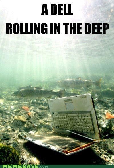 adele,Dell,Memes,puns,rolling in the deep