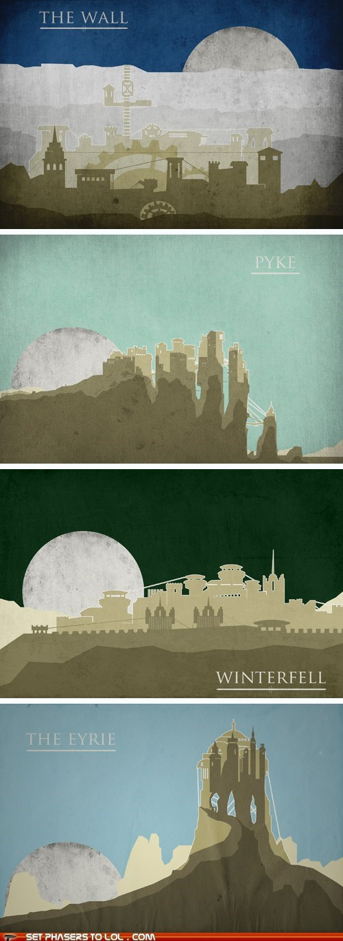 a song of ice and fire art destination Game of Thrones kings landing posters tourism winterfell - 6202425856