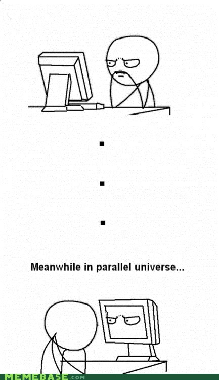 derp Meanwhile Memes parallel universe tron - 6202590720
