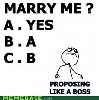 Like a Boss,marriage,multiple choice,proposing