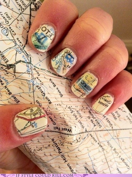 cool accessories Maps nail art nails - 6202599936