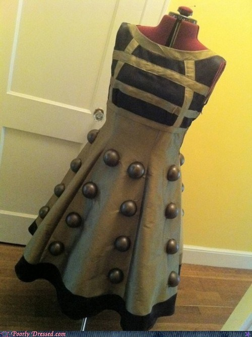dalek design DIY dress Hall of Fame nerdgasm