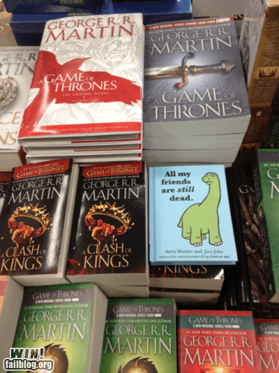 books Game of Thrones nerdgasm Sad