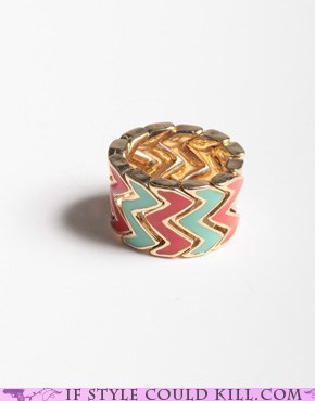 cool accessories ring of the day rings zig zags - 6202727168