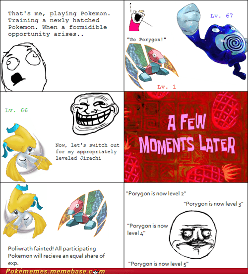 exp share jirachi newly hatched porygon rage comic Rage Comics - 6202732032