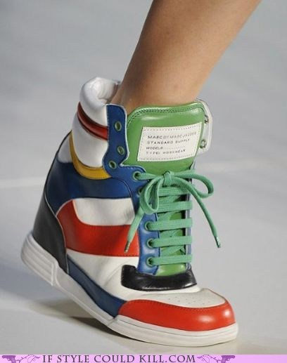 crazy shoes high heels marc jacobs runway sneakers - 6202734336